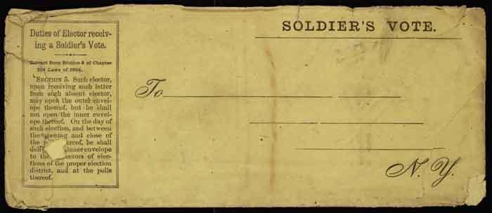 Blank form, soldier's affidavit
