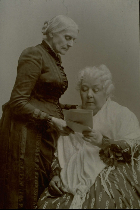Group portrait, Susan B. Anthony and Elizabeth Cady Stanton