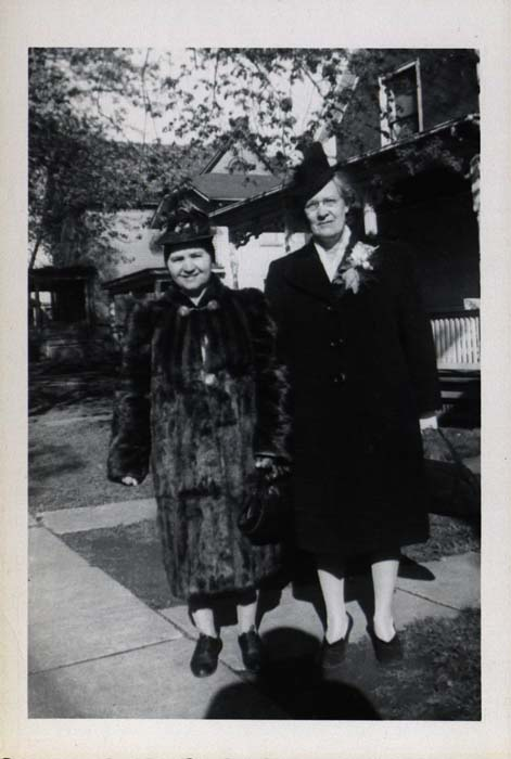 Photograph, two women in coats