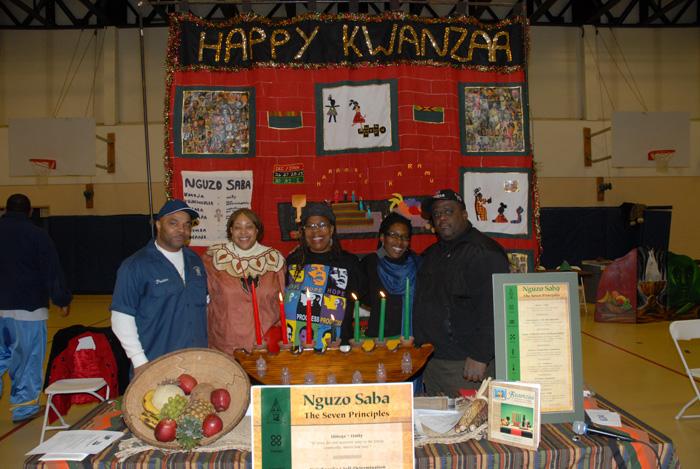 Ira Srole, Group gathered to celebrate Kwanzaa