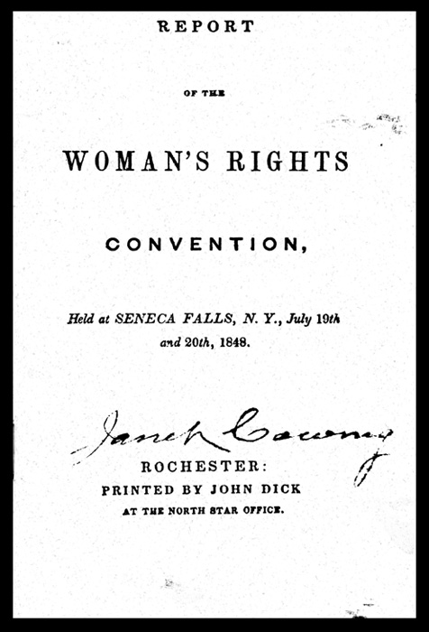 Report of the Woman's Rights Convention, Held at Seneca Falls, NY