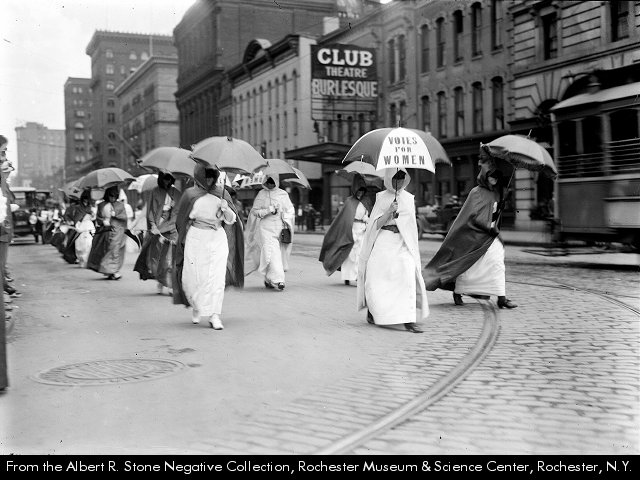Albert R. Stone, Suffragists in dominoes and masks