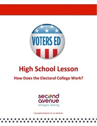 A lesson plan on the Electoral College for grades 9-12. Teaser Graphic