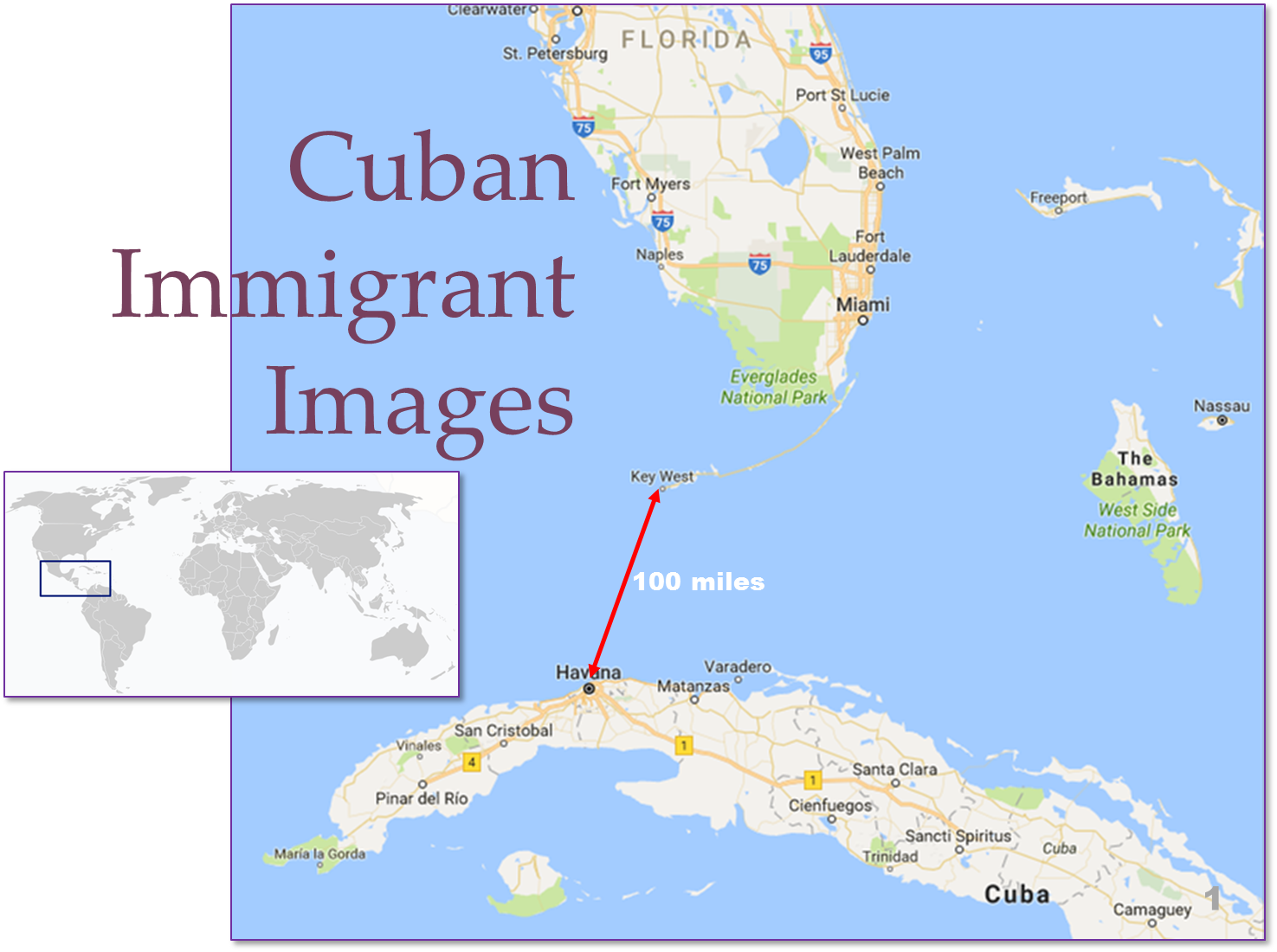 Images of Cuban Immigrants slideshow Teaser Graphic