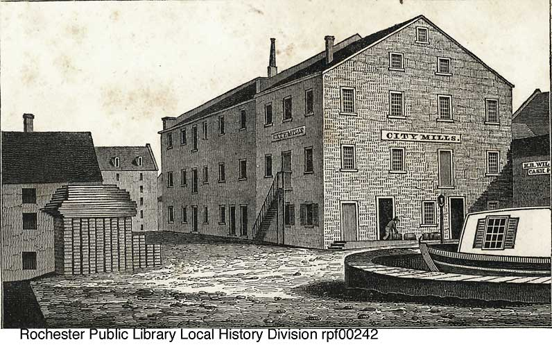 Engraving, City Mills at Child's Basin