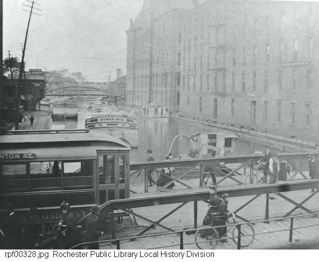 Photograph, Exchange Street swing bridge, Rochester, NY